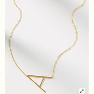 *NEW* Anthropologie A Block Letter Necklace